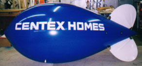 Advertising Blimp - 11ft. Centex Homes logo - helium balloons build traffic!